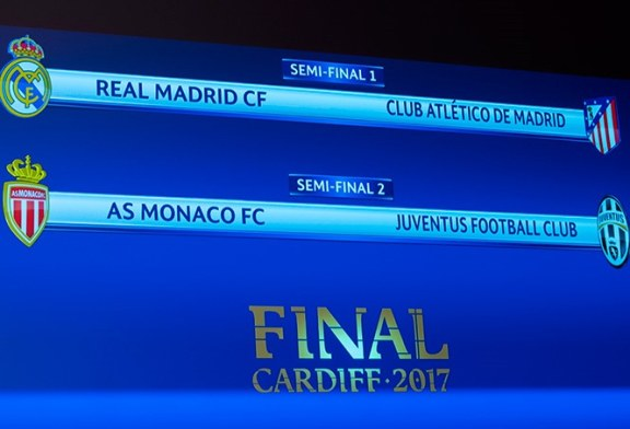 Definidos los encuentros de semifinales de la Champions League
