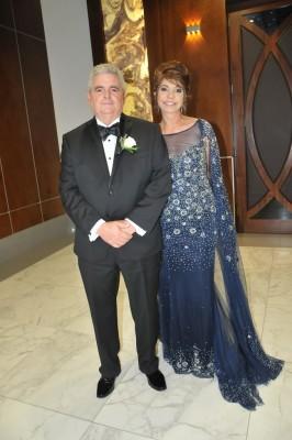Los padres de la novia, Carlos Milla y Marisa Mena de Milla
