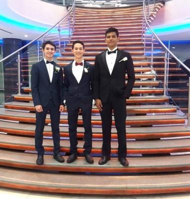 Alex Andres, Dennis Rosales y Francisco Yanez