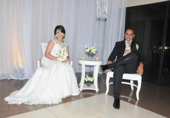 Los recien casados, Josselyn y Wilmer...muy felices