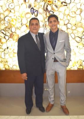 Eduardo Rivera y su hijo, Luis Felipe Rivera
