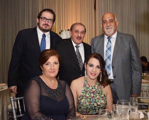 Jamal Abuid, George Segebre, Javier Segebre, Paola Segrebre y Leyla Abuid