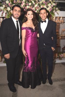Jesús Siwady, Ingrid López y Juan Carlos López