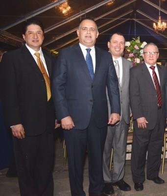 Nelson Chinchilla, Armando Calidonio, Reynaldo Ekónomo y Oscar Galeano