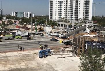 Varios muertos al colapsar puente peatonal en construcción en Miami