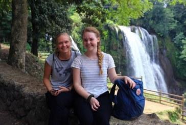 Turistas de Dinamarca y Suecia impresionadas con la belleza de Pulhapanzak