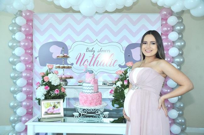Baby Shower en rosa para recibir a Nathalie