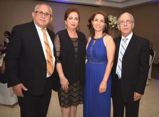 Munir y Yolanda Ganineh con Marlene y Edgardo Kamar