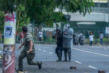 Tras protestas, Policía nicaragüense reporta dos agentes muertos y 121 heridos