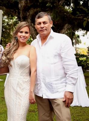 Rosy con Edgar Umaña