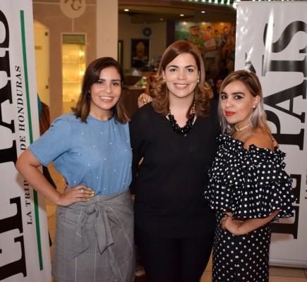 Cinthia Martínez, Sara Zepeda y Fanne Medrano