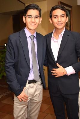 Claudio Vásquez y Mauricio Argueta