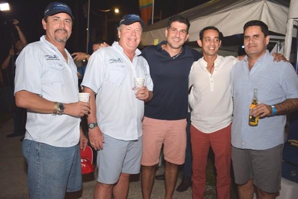 Juan Carlos Icaza, Fabio Icaza, Andrés Yibrín, Luis Rivera y Benny Meermann