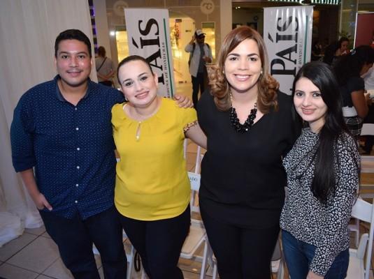 Luis Fernández, Iris Yañez, Sara Zepeda y Naila Bautista.
