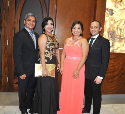 Marvin Argueta, Karime Argueta, Kristin Argueta de Aguilar y Douglas Aguilar