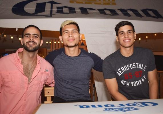 Odre Faraj, Kresslyn Flores y Guillermo Florentino