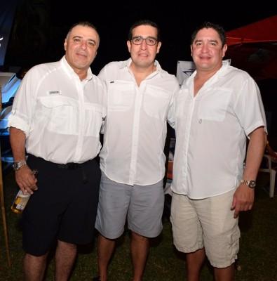 Raúl Barahona, Benjamín y Mauricio Membreño