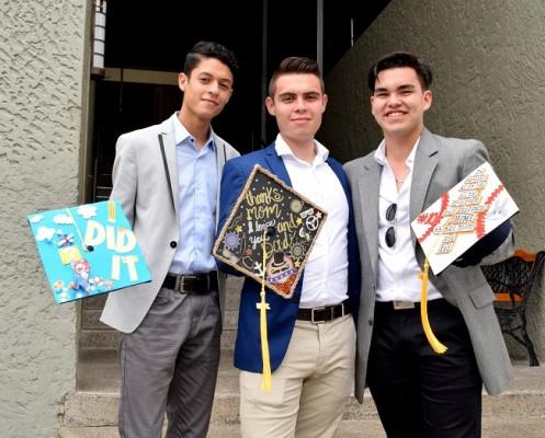 Rafael Paz, Ever Mejía y Edwin Burgos