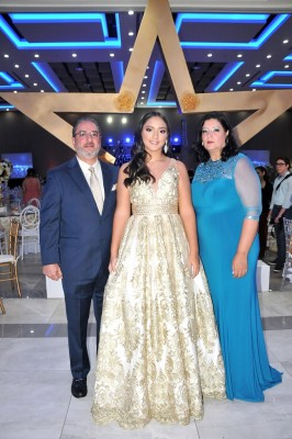 Gerardo Ramos, Rebeca Ramos y su madre, Rebeca de Ramos
