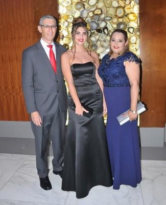 Jorge Romero, Martina Valbonesi y Ligia de Romero