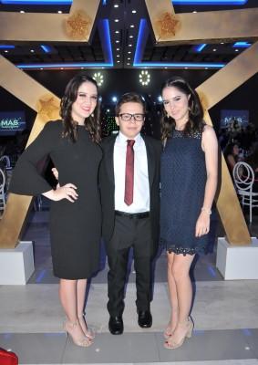 Paola Chávez, Rodrigo Espinal y Verónica Chávez