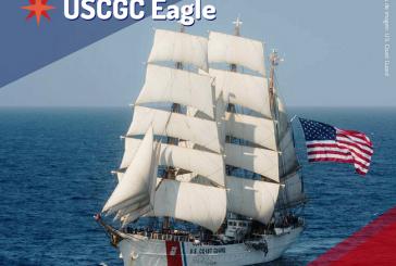 """Buque Escuela """"Eagle"""" de la Guardia Costera de EEUU llega por primera vez a Honduras"""