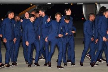 Neymar sorprendió a todos a su llegada a Rusia por su lujosa mochila
