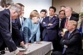 Tras viralizarse esta foto de la cumbre del G7: Trump advierte a Trudeau que Canadá perderá mucho dinero