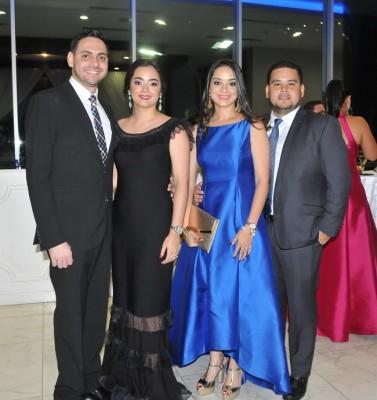 Adel y Alicia Chahin junto a Alina y Luis Zúñiga