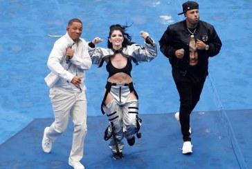 Will Smith, Nicky Jam y Era Istrefi fueron los protagonistas del show de clausura del Mundial de Rusia