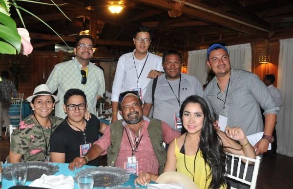 Los periodistas de la capital del país, se deleitaron con los atractivos de la bella isla.