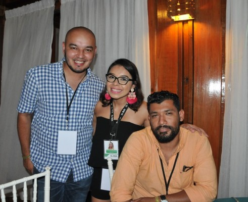 Yoseph Amaya, Francis Alemán e Irving Cruz.