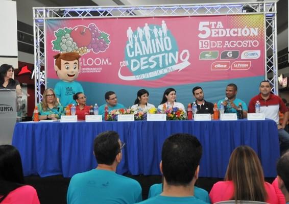"""Organizadores y patrocinadores de la Caminata """"Camino con destino"""""""