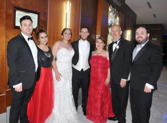 Daniel Treviño, Andrea Virguen, María Fernanda, Samuel, Diana Treviño, José Lorenzo Treviño y José Manuel Treviño.