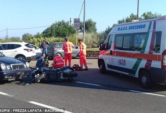George Clooney sufre aparatoso accidente de moto en Italia