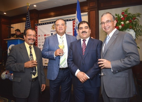 Hugo Maldonado, Emilio Medina, Jorge Faraj y Ernesto Lazarus