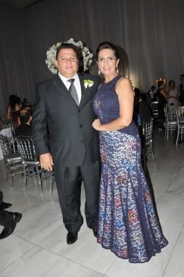 Los padrinos de boda, Ana Rajo de Moreno y Gilberto Moreno
