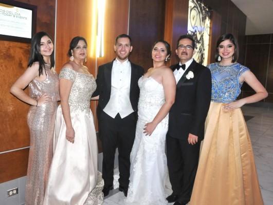 María Belén y Rosa María Naranjo, Samuel y María Fernanda, Carlos Enrique Naranjo y Daniela Naranjo