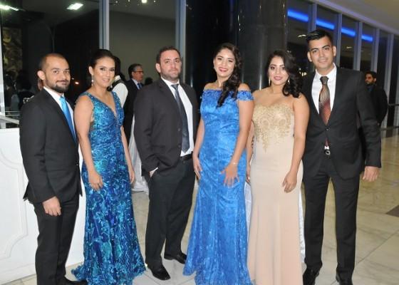 Rodolfo y Thalia Rivera, Jesús Bendeck, Zoila Castillo, Joselin Villatoro y Edson Rehkop