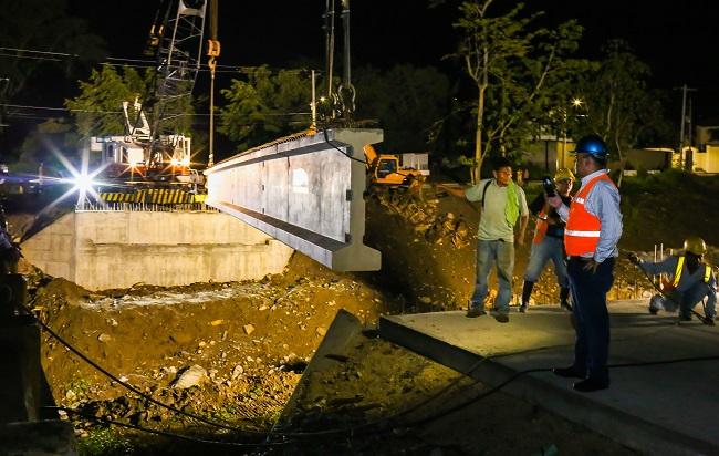 Avanza proyecto de construcción del puente sobre quebrada Miramelinda