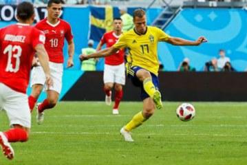 Suecia se impuso a Suiza 1-0 y se clasifica a los cuartos de final de la Copa del Mundo