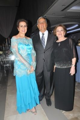 Carmen Faraj, Emin y Marielena Abufele