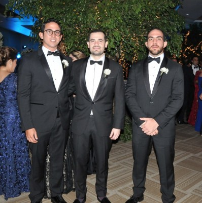 Daniel Canahuati, Yankel Rosenthal y Jorge Kattán