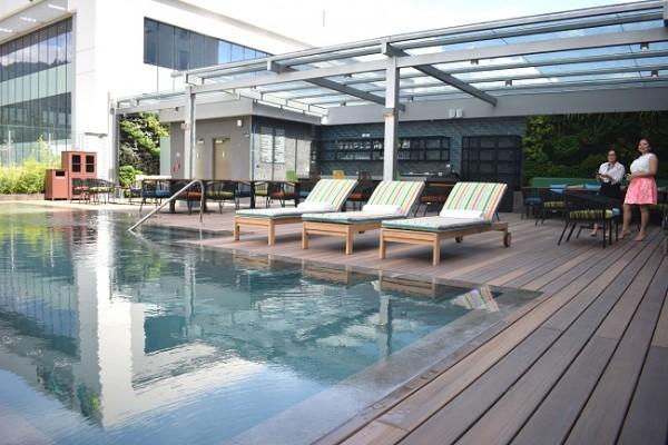 El área de la piscina está a disposición de todos los huéspedes