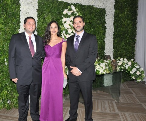Jorge Fonseca, Rozeana Fonseca y Carlos Kattán