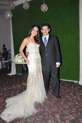 Nicole Aguilar y Lesther Antonio Aguilar
