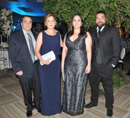 Rudy Assaf, Jessica de Assaf, Clarissa de Assaf y Rudy Asaaf Jr.