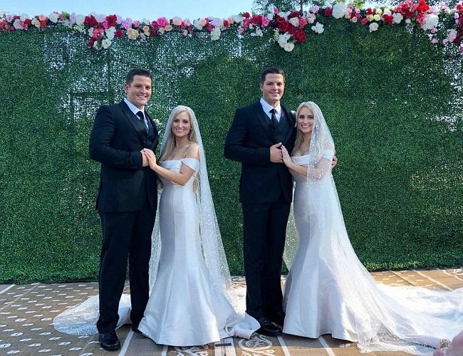 ¡No está viendo doble! se viraliza la boda doble de estos gemelos idénticos