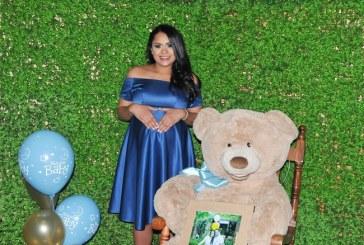 Ositos de peluche en el baby shower para Elba