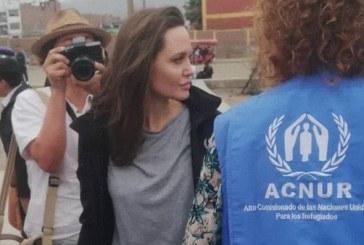La actriz Angelina Jolie llegó a Perú para reunirse con refugiados venezolanos